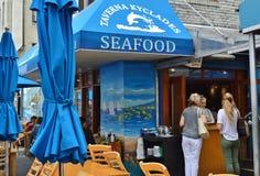 Queens greco di Astoria del ristorante di New York che mangia pranzare dell'alimento Fotografie Stock Libere da Diritti