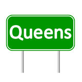 Queens green road sign. Royalty Free Stock Photography