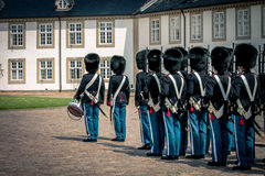 Queens guard, Denmark. Queens guard at Fredensborg castel Denmark royalty free stock photo