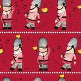 QUEENS GUARD SEAMLESS REPEAT PATTERN TILE stock illustration