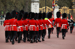 Queens guards marching Stock Images
