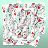 Queens Of Hearts Stock Images