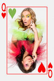 Queens of hearts Royalty Free Stock Photos