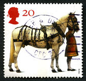 Queens Horse UK Postage Stamp Stock Photo