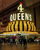 4 Queens Hotel, Las Vegas, NV. Famous 4 Queens Hotel in Old downtown, Las Vegas, NV Stock Images