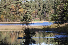 Queens loch at Aboyne in Scotland. Royalty Free Stock Images