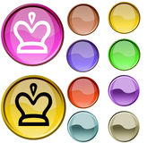 Queens Mark. The cristal red and blue queens mark button Stock Photo