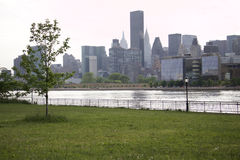 Queens - New York - view of Manhattan. New York - The Queens - View of Manhattan Royalty Free Stock Photo