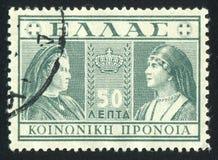 Queens Olga och Sophia Arkivfoton