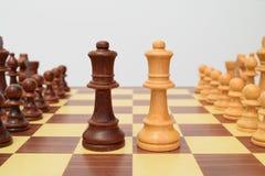 Queens op het centrum van het schaakbord Royalty-vrije Stock Foto's
