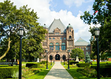 Queens Park – Toronto, Ontario. Queen's Park viewed from University Avenue, facing north Royalty Free Stock Photo