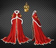 Medieval queen royal garment realistic vector vector illustration