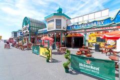 Queens-Promenade in Blackpool Lizenzfreies Stockfoto
