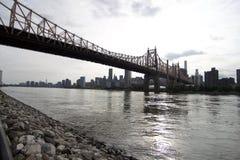 Queens - puente de Nueva York - de Queensboro Imagen de archivo