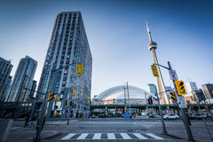 Queens Quay West and modern buildings at the Harbourfront, in To Stock Photography