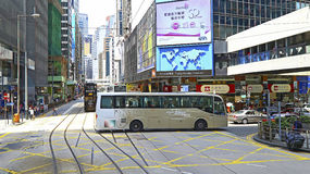 Queens road, hong kong Royalty Free Stock Photo