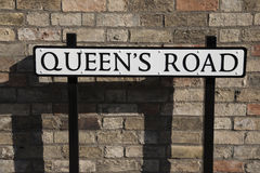 Queens Road Street Sign Royalty Free Stock Image