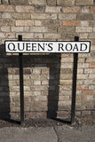 Queens Road Street Sign Royalty Free Stock Images