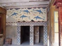 Queens room, Knossos. On Crete, Greece Stock Image