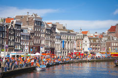 Queens's day in Amsterdam Stock Photos