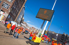 Queens's day in Amsterdam Royalty Free Stock Photo