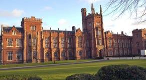 Queens university Belfast 1. The front elevation of Queens university Belfast Stock Photos