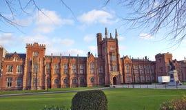 Queens university Belfast. Front elevation of Queens university Belfast Stock Photos