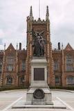 Queens university Belfast. Queens university in Belfast with clouds Stock Photography