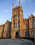 Queens university Belfast front entrance. Detail of the front elevation of Queens university Belfast Stock Image