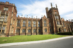 Queens University Belfast. Front view of the Lanyon Building at Queens University, Belfast, Northern Ireland, UK royalty free stock photo