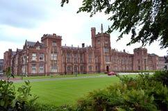 Queens University, Belfast. BELFAST, NORTHERN IRELAND - MAY 21, 2011: Queens University. The university was chartered in 1845, and opened in 1849 as Queen`s Stock Image