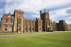 Queens University Belfast. A view outside the Queens University Belfast in Northern Ireland royalty free stock photo