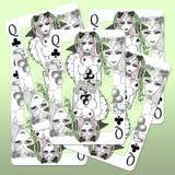 Queens van Clubs vector illustratie