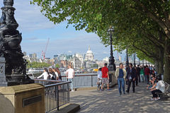 The Queens walk, London. Royalty Free Stock Image
