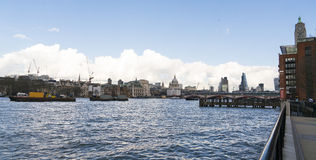 The Queens Walk at Southbank of River Thames London Royalty Free Stock Photography
