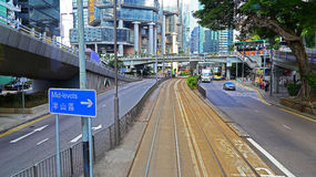 Queens way central, hong kong Royalty Free Stock Image