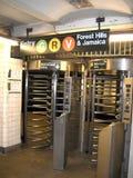 Queens wejście dla staci metru Obrazy Royalty Free