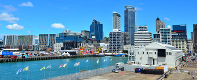 Queens Wharf in Auckland Waterfront New Zealand Stock Photography