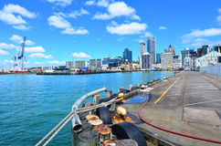 Queens Wharf in Auckland Waterfront New Zealand Stock Image