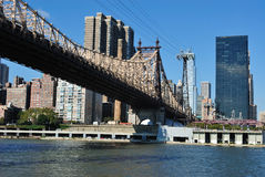 Queensboro Bridge. Skyline of midtown Manhattan with the Queensboro Bridge from across the East River Stock Photography
