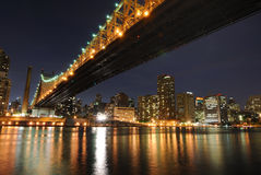 Queensboro Bridge. The historic Queensboro Bridge connecting the buroughs of Manhattan and Queens in New York City Stock Photos
