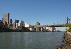 Queensboro Bridge. In New York City Royalty Free Stock Photo