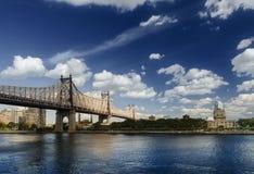 Queensboro Bridge. View of Queens and East River Stock Images
