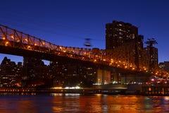 Queensboro Bridge connecting Manhattan to Roosevelt Island. Stock Photography