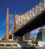 Queensboro Bridge. Fragment of the Queensboro Bridge at sunny day Stock Photo