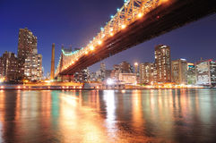 Queensboro Bridge and Manhattan Royalty Free Stock Photos