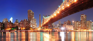 Queensboro Bridge and Manhattan Royalty Free Stock Photo