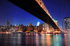 Queensboro Bridge and Manhattan Stock Photos
