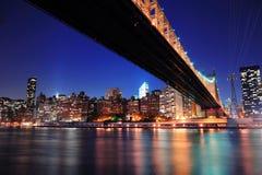 Queensboro Bridge and Manhattan Stock Photos