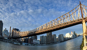 Queensboro Bridge and Manhattan, Roosevelt Island, New York Royalty Free Stock Photos